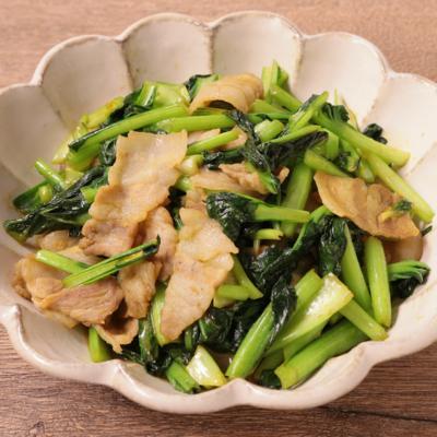 ターサイと豚バラ肉のカレー炒め