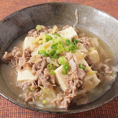 めんつゆでお手軽 肉豆腐