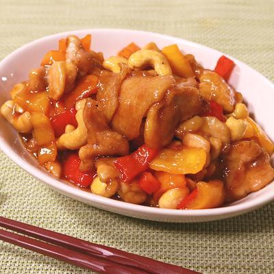 鶏もも肉とカシューナッツの黒酢炒め