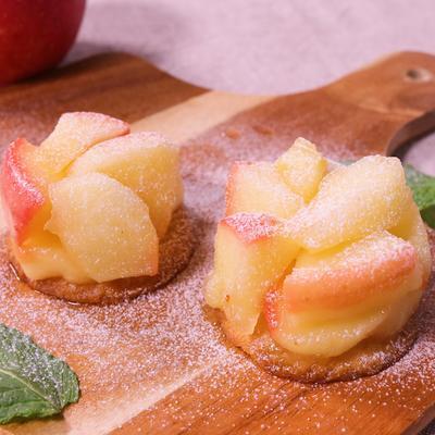 一口で食べたい!りんごのプチタルト・タタン風
