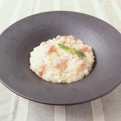 レンジで簡単 生米から作る本格チーズリゾット