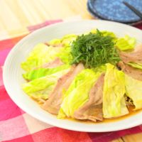 レンジで簡単 たっぷり野菜と豚バラ肉のバタポン蒸し