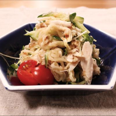 梅風味でさっぱり!切り干し大根とササミのサラダ