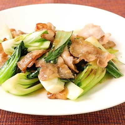 豚バラとチンゲン菜の味噌炒め