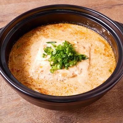 坦々湯豆腐