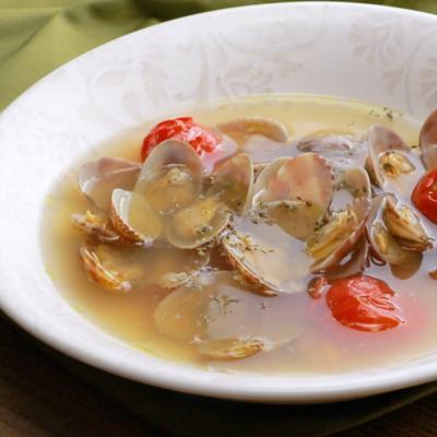 あさりとトマトの洋風スープ