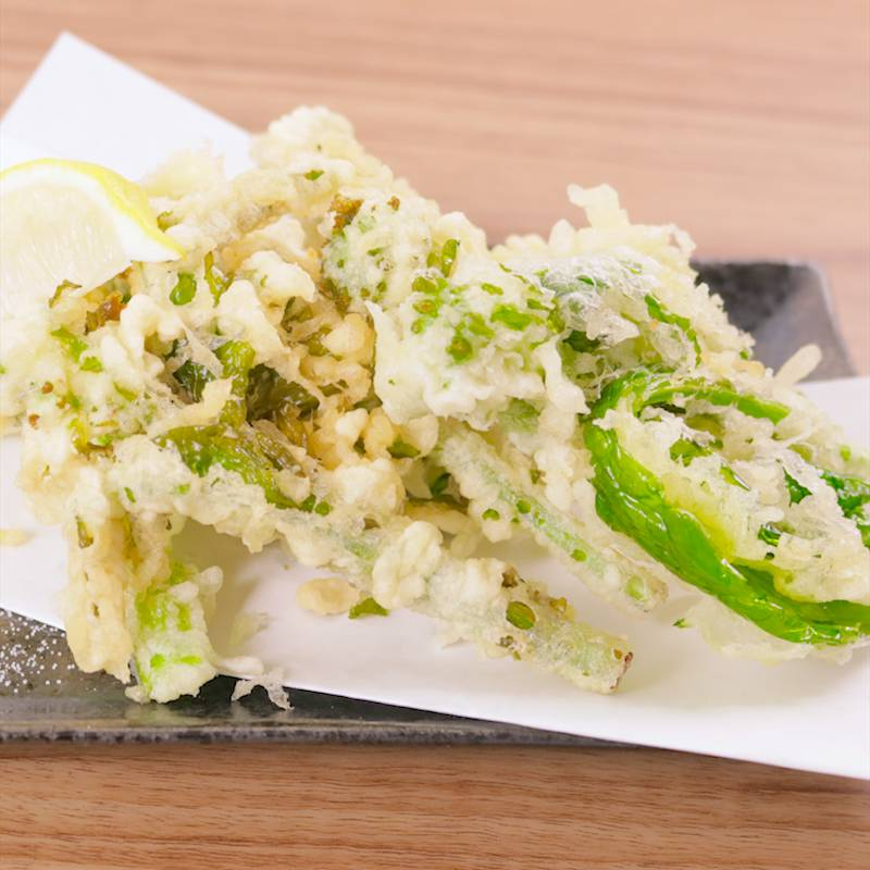 天ぷら 菜の花
