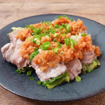 レンジで簡単 おろし明太ポン酢のレタス肉巻き