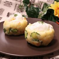 簡単温泉卵のポテトサラダ