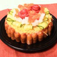 ひなまつりに 華やか寿司ケーキ
