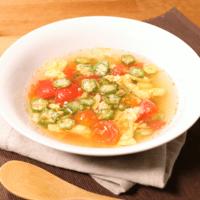 オクラとトマトのすっぱ辛いスープ