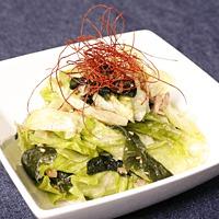 やみつき!わかめとレタスの韓国風サラダ