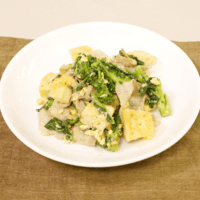菜の花と豆腐のマヨチャンプルー