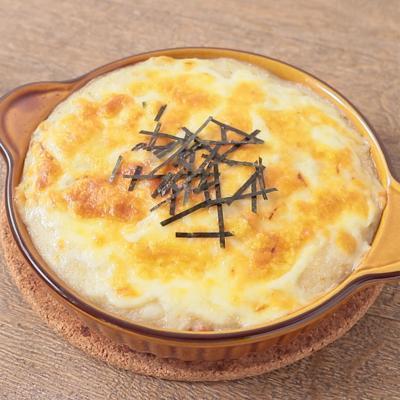 ヒラタケと長芋の和風グラタン