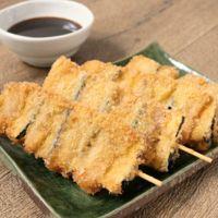 ナスと豚肉の串カツ