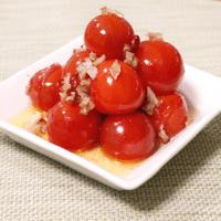 ミニトマトで!おつまみガーリック炒め