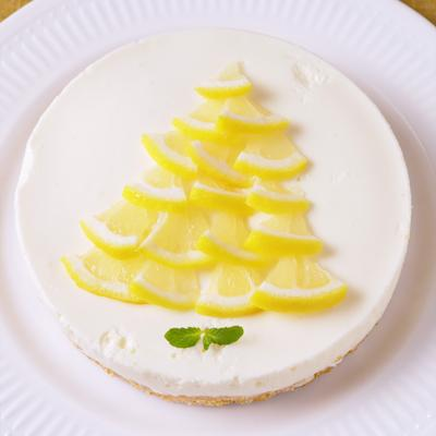 さっぱり レモンのムースケーキ