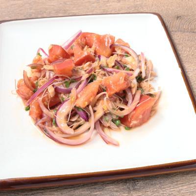 ブロッコリースプラウトとツナのサルサ風サラダ