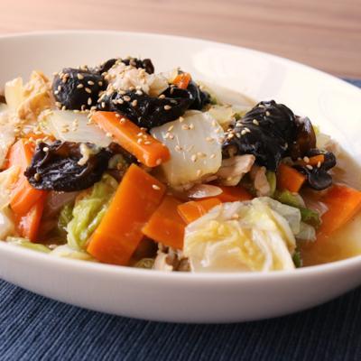 めんつゆを使って簡単中華煮
