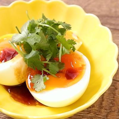 簡単 パクチー卵
