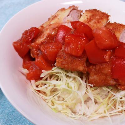 チーズイントマトソースカツ丼