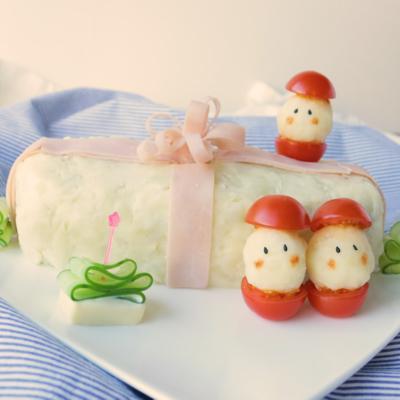 サンタさんからのプレゼント ミートローフマッシュポテト包み