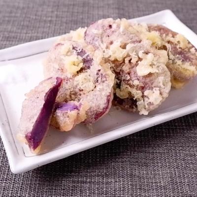 天ぷら粉で簡単紫芋の天ぷら