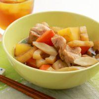 鶏肉と根菜のめんつゆ煮