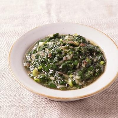 モロヘイヤと香味野菜の食べるトロトロドレッシング