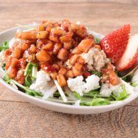 水菜のイチゴドレッシングサラダ