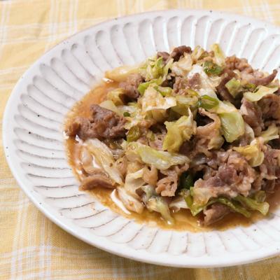 牛肉とキャベツの青唐辛子炒め