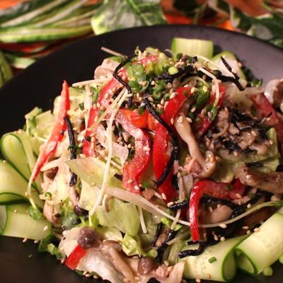 キノコとひじきの和風サラダ