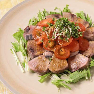 カツオと水菜のカルパッチョ