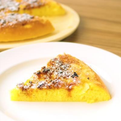 フライパンで卵たっぷりカラメルケーキ