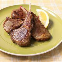 カレー風味のラム肉ソテー