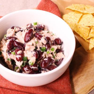 赤のいんげん豆とツナのサラダディップ