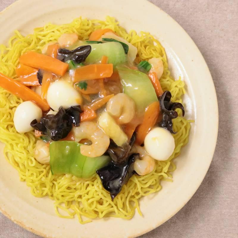 シーフードミックスで海鮮あんかけ焼きそば 作り方 レシピ クラシル