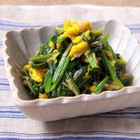 彩り綺麗な ほうれん草と食用菊の和え物