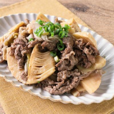 とろとろ タケノコと牛肉の山椒煮