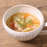 鶏肉と野菜のコンソメスープ