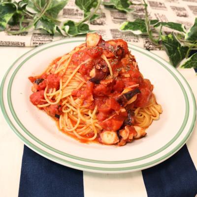 ピリ辛本格イタリアン!蛸とトマトのスパゲティ