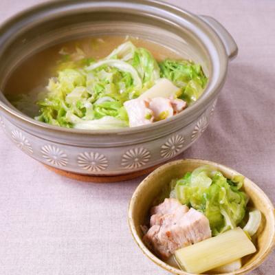 ニンニク塩レタス鍋