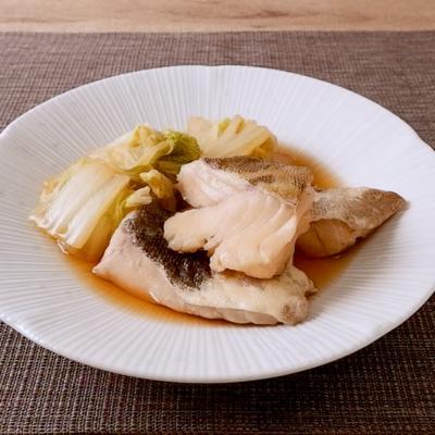 タラと白菜のしょうゆ煮