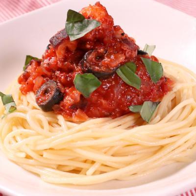 タコのアッフォガートスパゲティ