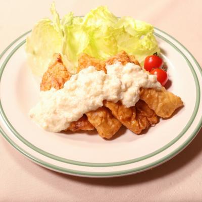 お豆腐のタルタルソースで!チキン南蛮
