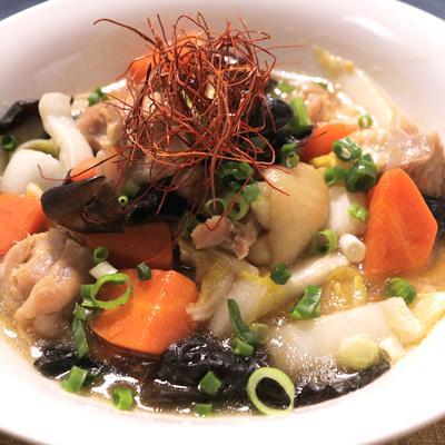 ザクザク食感 白菜と鶏もも肉の中華煮