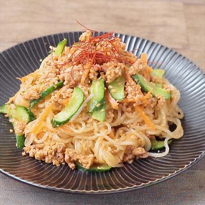 レンジ肉みそで 韓国風春雨サラダ