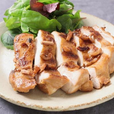 塩辛で旨味があふれる チキンステーキ