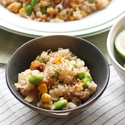 夏野菜とアジのポン酢ちらし寿司