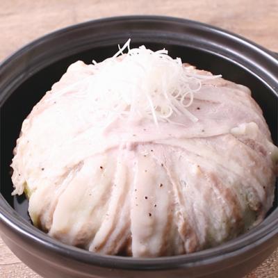 まるごとキャベツ肉巻きのお手軽蒸し野菜鍋